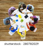 group of diverse people working ... | Shutterstock . vector #280782029