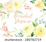 decorative card. flowers... | Shutterstock .eps vector #280782719