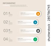 modern vector abstract step... | Shutterstock .eps vector #280786745