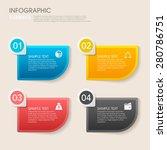 modern vector abstract step... | Shutterstock .eps vector #280786751