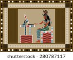 Egyptian Ancient Woman Using...