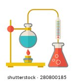 a laboratory glassware use for... | Shutterstock .eps vector #280800185