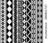 black and white tribal navajo... | Shutterstock .eps vector #280801727