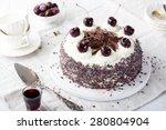 black forest cake  schwarzwald...   Shutterstock . vector #280804904