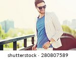 young stylish confident happy... | Shutterstock . vector #280807589