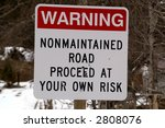 typical sign in montana... | Shutterstock . vector #2808076