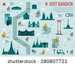 illustration of visit bangkok... | Shutterstock .eps vector #280807721
