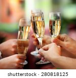 celebration. people holding... | Shutterstock . vector #280818125