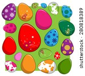 easter eggs | Shutterstock .eps vector #280818389