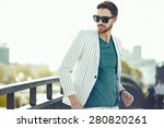 young stylish confident happy... | Shutterstock . vector #280820261