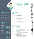 modern cv curriculum vitae... | Shutterstock .eps vector #280823984