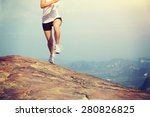 young asian woman running on... | Shutterstock . vector #280826825