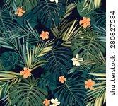 summer colorful hawaiian... | Shutterstock .eps vector #280827584