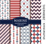 set of sea and nautical... | Shutterstock .eps vector #280846541