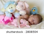 peaceful baby asleep with... | Shutterstock . vector #2808504