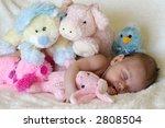peaceful baby asleep with... | Shutterstock . vector #2808504