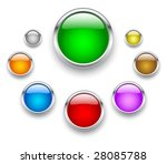 vector glass button | Shutterstock .eps vector #28085788