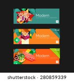 set of banners with stickers ... | Shutterstock .eps vector #280859339