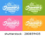set of four cards with... | Shutterstock .eps vector #280859435