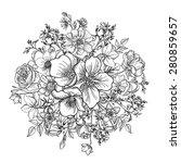 flower bouquet. floral frame....   Shutterstock .eps vector #280859657