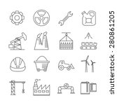 industry icons  thin line style ... | Shutterstock .eps vector #280861205