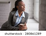 candid image of a businesswoman ... | Shutterstock . vector #280861289