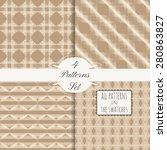 4 ornamental seamless patterns... | Shutterstock .eps vector #280863827