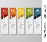 design clean number banners... | Shutterstock .eps vector #280866881