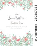 flower wedding invitation card  ... | Shutterstock .eps vector #280867385