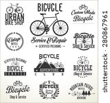 vector bicycle badges and labels | Shutterstock .eps vector #280867961