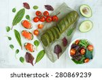 top view of an appetizer of... | Shutterstock . vector #280869239