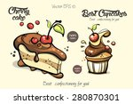 best cartoon confectionery for... | Shutterstock .eps vector #280870301