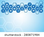 medical background and icons to ... | Shutterstock .eps vector #280871984
