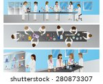 medical scientists  laboratory... | Shutterstock .eps vector #280873307