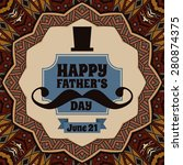 happy fathers day over vintage... | Shutterstock .eps vector #280874375