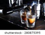 professional espresso machine... | Shutterstock . vector #280875395