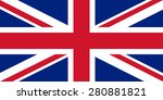 flag of the united kingdom.... | Shutterstock .eps vector #280881821
