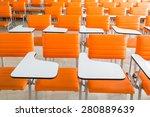 Classroom With Many Orange...