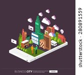flat design concept the city... | Shutterstock .eps vector #280891559