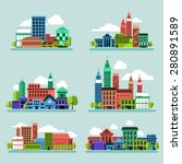 building icon set concept for... | Shutterstock .eps vector #280891589