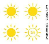sun icon set. vector... | Shutterstock .eps vector #280894295