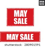 may sale grunge rubber stamp... | Shutterstock .eps vector #280901591