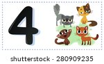 collection number for kids ... | Shutterstock .eps vector #280909235