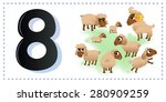 collection number for kids ... | Shutterstock .eps vector #280909259