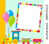 greeting card with photo frame... | Shutterstock .eps vector #280910315