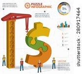 Dollar Puzzle Info Graphic...