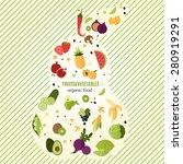 vegetarian background   pear... | Shutterstock .eps vector #280919291