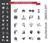20 icon set. business strategy... | Shutterstock .eps vector #280921397