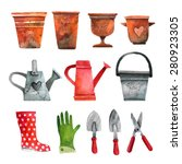 Vector Set Of Garden Objects....