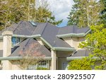 the roof of the house with nice ... | Shutterstock . vector #280925507